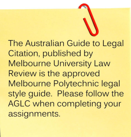 AGLC referencing style guide