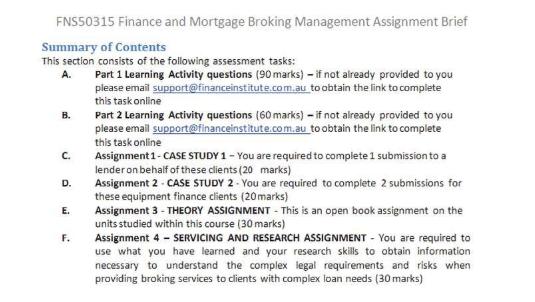 kaplan-mortgage broking assignment sample