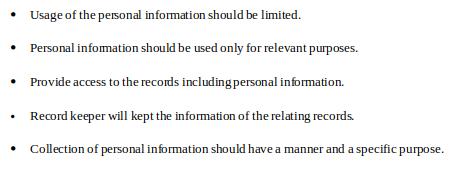 CHC33015 - keypoints of privacy legislation